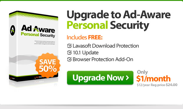 Upgrade to Ad-Aware Personal Security